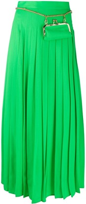 Seen Users Long Pleated Skirt