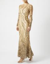 Monsoon Carina Gold Sequin Maxi Dress