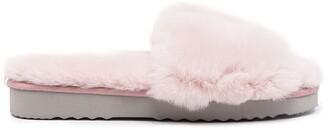 Apparis Jasmine fur slippers