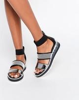 Sixty Seven SixtySeven Wind Monchrome Triple Strap Sandals