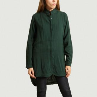 Mes Demoiselles Dark Green Long Blouse Top - 34