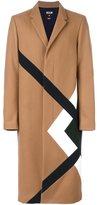 MSGM large plaid single breasted coat