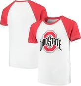 Unbranded Ohio State Buckeyes Wes & Willy Youth Swim Rash Guard T-Shirt White