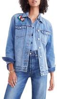 Madewell Women's Embroidered Denim Jacket