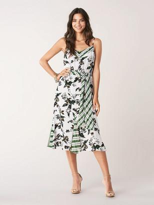 Diane von Furstenberg Ciella Silk Crepe de Chine Belted Midi Dress