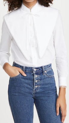 Tory Burch Extreme Collar Top