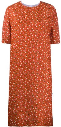 Marni Floral Print Straight-Fit Dress