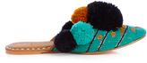 Figue Iris pompom-embellished leather slides