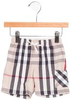 Burberry Boys' Nova Check Swim Trunks