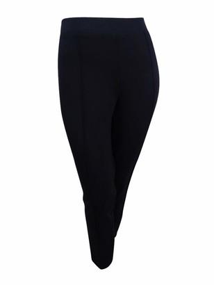 Kasper Women's Plus Size Compression Ponte Pant