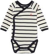 Petit Bateau Newborn babies striped bodysuit