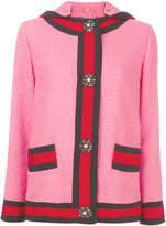 Gucci hooded tweed jacket