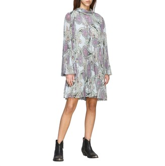 Etro Dress Dress In Pleated Fabric With Paisley Print