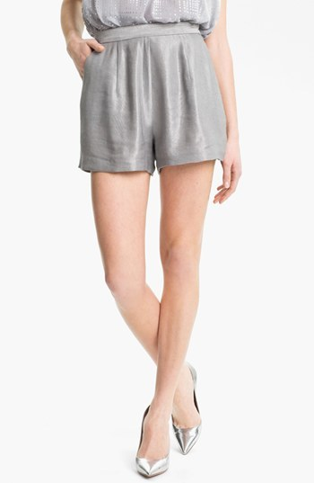 Milly 'Kelsey' Shorts Silver 4