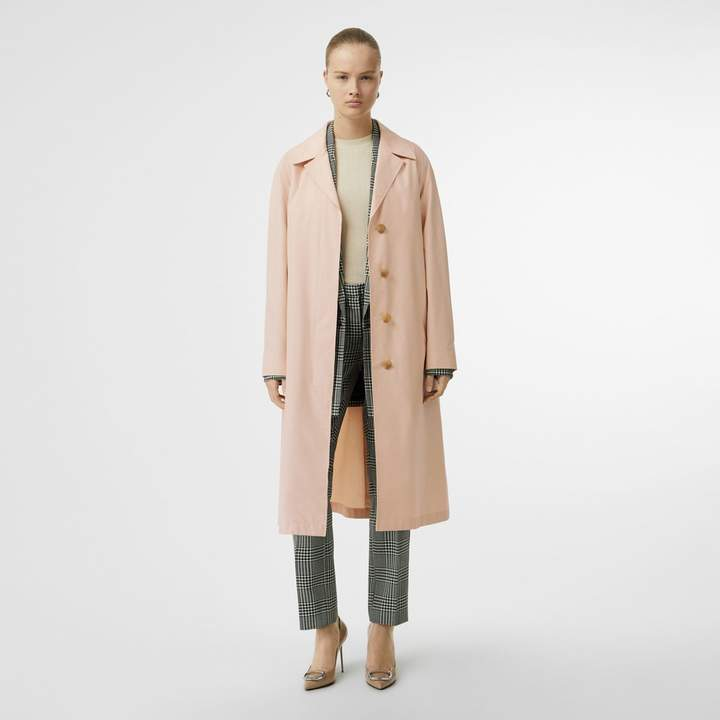 Burberry Belted Cotton Silk Car Coat