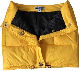 Moschino For H&m Yellow Sponge Skirt for Women