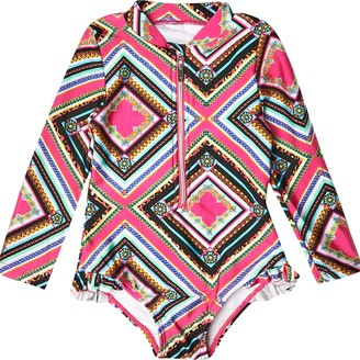 River Island Mini girls Black tribal print swimsuit