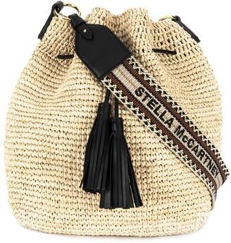 Stella McCartney Straw Bucket Bag