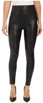 Spanx Cut & Sew Cropped Leather Leggings