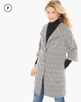 Chico's Chevron Knit Jacquard Jacket