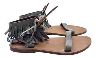 K. Jacques Grey Suede Sandals
