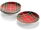 222 Fifth Wexford Plaid Red Dinnerware Collection