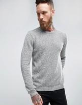 Asos Midweight Cotton Crew Neck Sweater