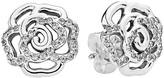 Pandora Earrings - Sterling Silver & Cubic Zirconia Shimmering Rose Studs