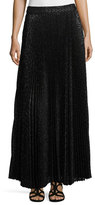 Haute Hippie Pleated Diamond Maxi Skirt, Black