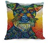 PaPaver Dog Art Cushion Covers Gift Or Decor For Teens Boys Dinning Room Saloon Relatives Father - Twin Sides