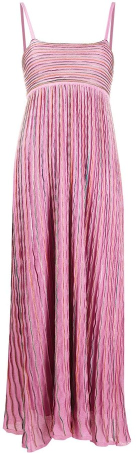 M Missoni Fine-Knit Embroidered Dress