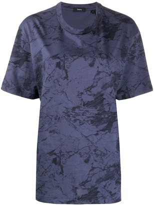 Theory abstract-print T-shirt