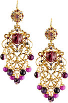 Jose & Maria Barrera Multihued Filigree Chandelier Earrings, Purple