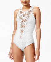 Rachel Roy Lace-Inset Bodysuit, Only at Macy's