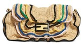 Fendi Raffia Wave Baguette - Brown