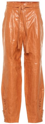 Ulla Johnson Navona belted leather pants