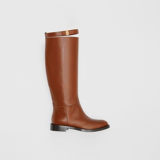 Burberry Monogram Motif Leather Knee-high Boots