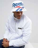 Reebok Vector Bucket Hat In White Bj9136