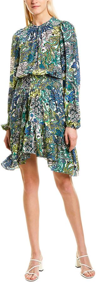 A.L.C. Sidney Silk A-Line Dress