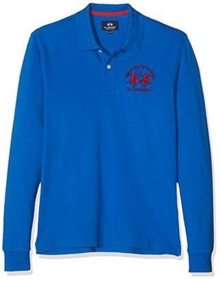 La Martina Men's Milo Polo Shirt, Blue Scotland 07015