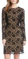 Karen Kane Women's Contrast Side Lace Sheath Dress
