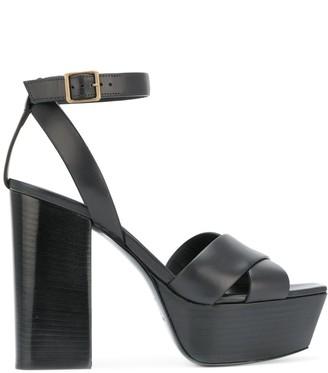 Saint Laurent Farrah 80 criss-cross sandals