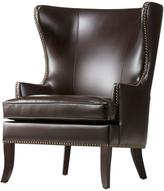 Home Decorators Collection Moore 29.5 in. W Havana Brown Wing Back Chair