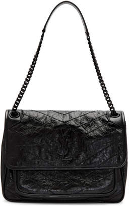 Saint Laurent Black Medium Quilted Niki Bag