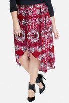 Fashion to Figure Zionne Medallion Print Wrap Skirt