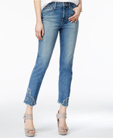 Joe's Jeans The Debbie Embroidered Cropped Jeans