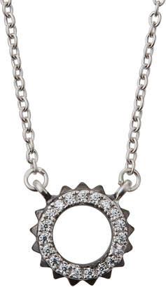 Freida Rothman Crown Pendant Necklace, Black