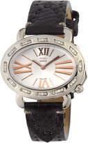 Fendi 40mm Selleria Stainless Steel Watch w/ Leather Strap, Silver/Black