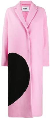 MSGM broken heart oversized coat