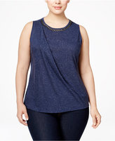 NY Collection Plus Size Chain-Neck Tank Top